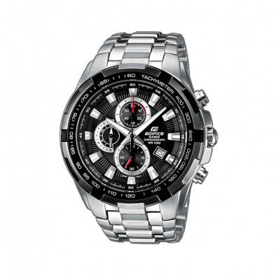 Мъжки часовник Casio Edifice сребрист браслет със завиващ се заден капак