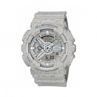 Мъжки спортен часовник Casio G-SHOCK сив със захабен ефект