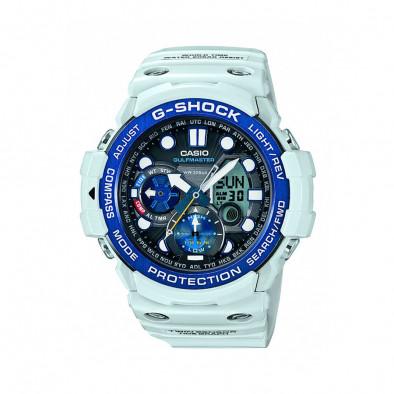 Мъжки спортен часовник Casio G-SHOCK светло син със син ринг на циферблата