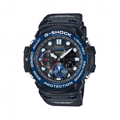 Мъжки спортен часовник Casio G-SHOCK черен със син ринг на циферблата