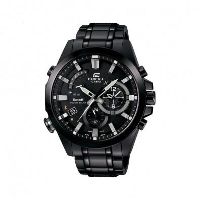 """Мъжки часовник Casio Edifice черен браслет с режим """"полет"""""""