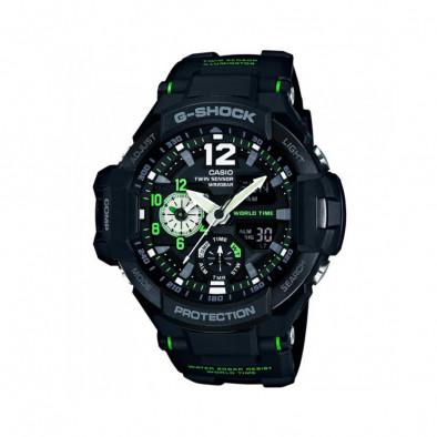 Мъжки спортен часовник Casio G-SHOCK черен с неоново зелени елементи