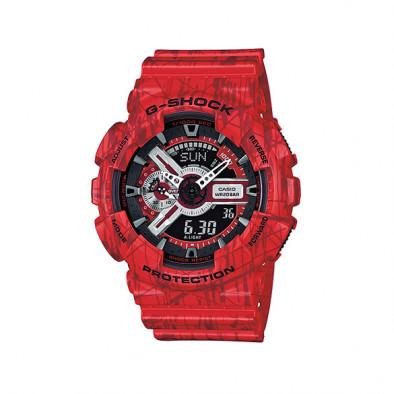 Мъжки спортен часовник Casio G-SHOCK червен с черни детайли
