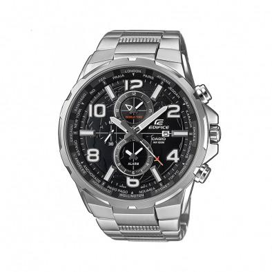 Мъжки часовник Casio Edifice сребрист браслет кварцов хронограф