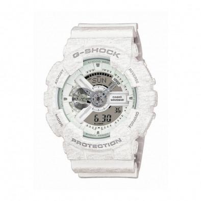 Мъжки спортен часовник Casio G-SHOCK бял със захабен ефект