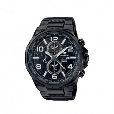 Мъжки часовник Casio Edifice черен браслет със сиви стрелки и цифри
