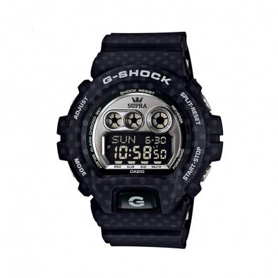 Мъжки спортен часовник Casio G-SHOCK тъмно син с малки сиви точки