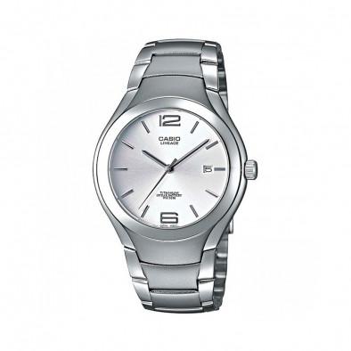 Мъжки часовник Casio Lineage сив с титаниев корпус