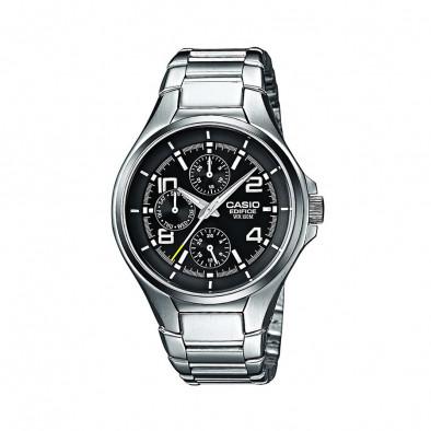 Мъжки часовник Casio Edifice сребрист браслет с бели цифри