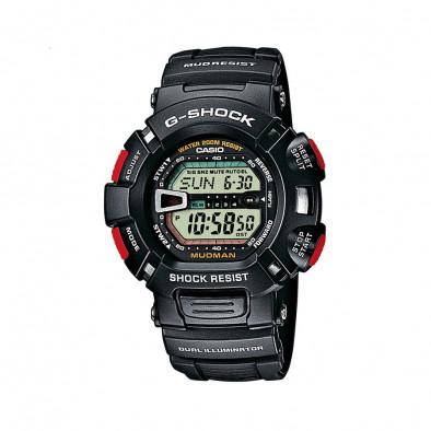 Мъжки спортен часовник Casio G-SHOCK черен с червени бутони