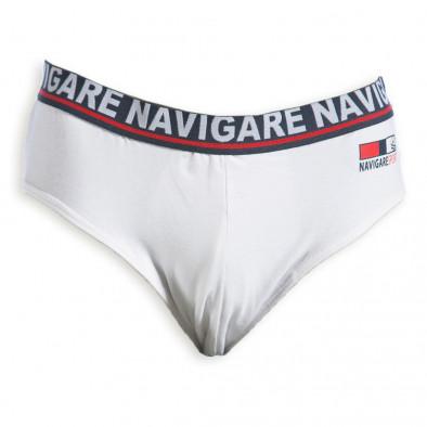 Мъжки слипове Navigare в бяло 324-1 2