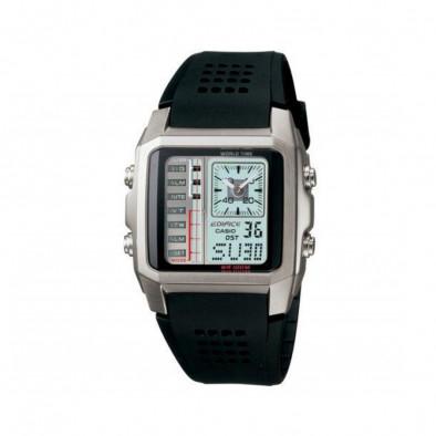 Мъжки часовник Casio Edifice с черна каишка и нестандартен циферблат