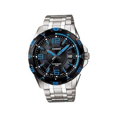 Мъжки часовник Casio Collection сребрист браслет с арабски цифри и индекси