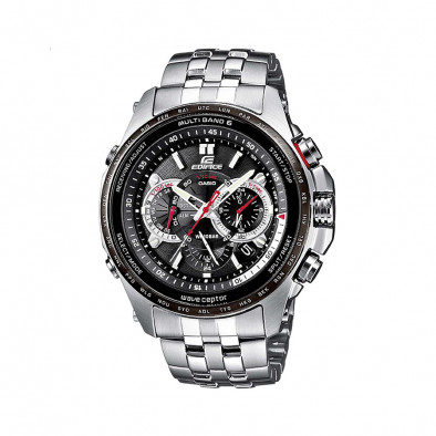 Мъжки часовник Casio Edifice сребрист браслет с дигитален компас