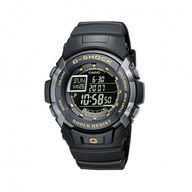 Мъжки спортен часовник Casio G-SHOCK черен с жълти надписи
