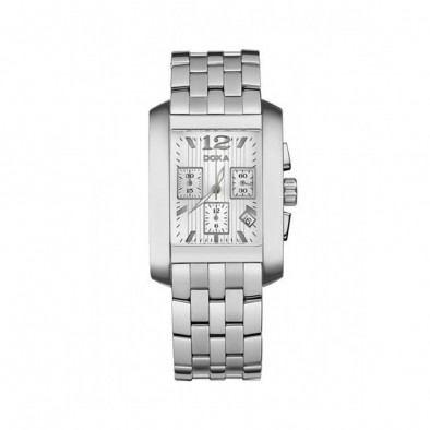 Мъжки часовник DOXA Style сребрист браслет с правоъгълна каса