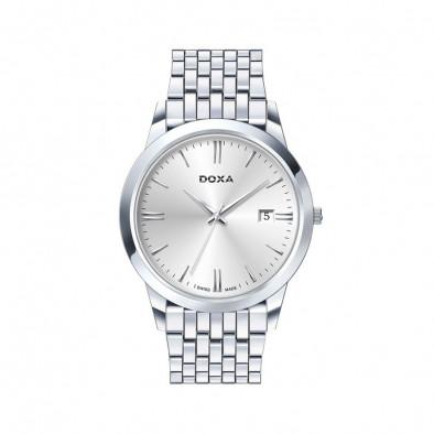 Мъжки часовник DOXA Slim Line сребрист браслет