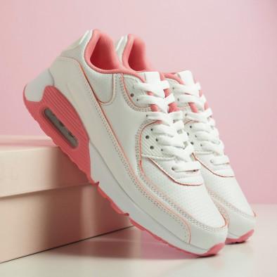 Дамски маратонки с въздушна камера бяло и розово it051219-11 5