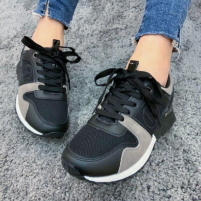 Дамски маратонки в черно и сиво it110221-1 5