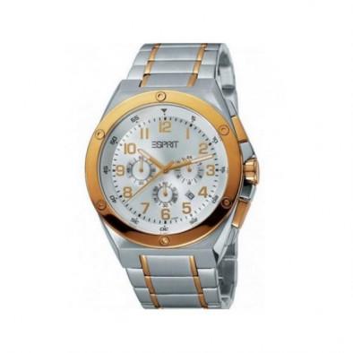Мъжки часовник Esprit сребрист браслет със златисти детайли