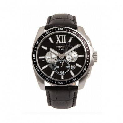 Мъжки часовник Esprit с каишка от естествена кожа