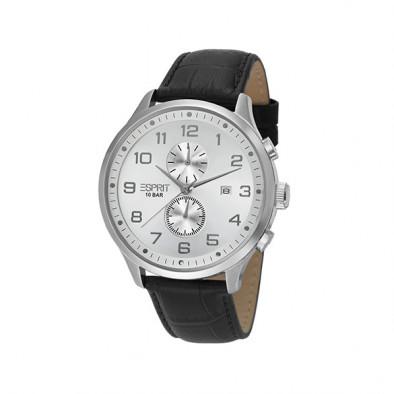 Мъжки часовник Esprit със сив циферблат и черна каишка