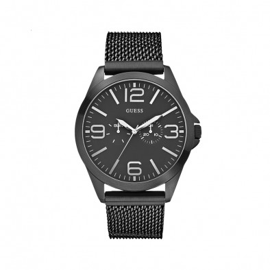 Мъжки часовник Guess  черен браслет