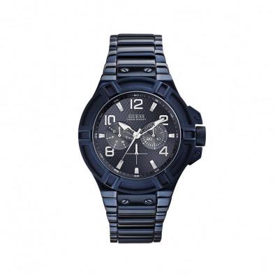 Мъжки часовник Guess син браслет