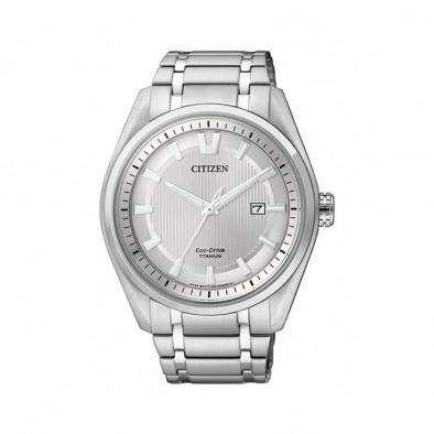 Мъжки часовник Citizen сребрист титаниев браслет