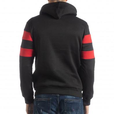 Мъжки ватиран суичър в черно и червено it051218-37 3
