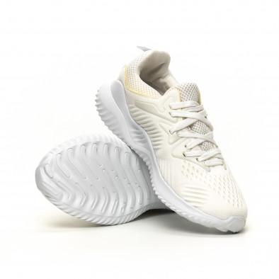 Леки мъжки маратонки бял текстил it200619-2 4