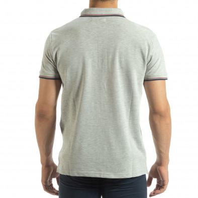Мъжка тениска polo shirt в сиво it120619-24 3
