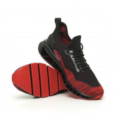 Мъжки маратонки Knife черно и червено it050719-3 4