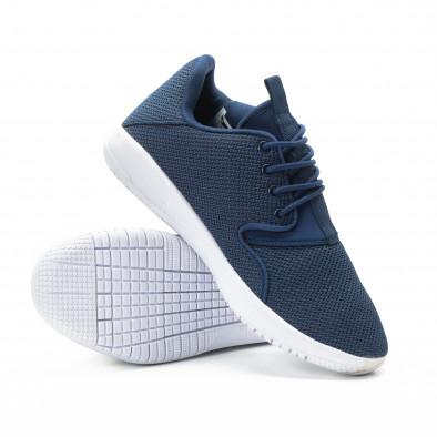 Мъжки текстилни олекотени маратонки в синьо it301118-2 4