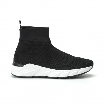 Черни дамски маратонки тип чорап it250119-59 2
