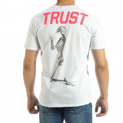 Бяла мъжка тениска Pray Trust it120619-41 3