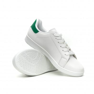 Бели мъжки кецове зелена пета и връзки it040619-1 4