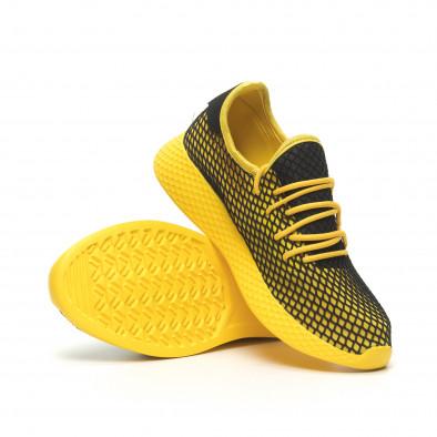 Жълти мъжки маратонки Mesh черна пета it230519-10 4