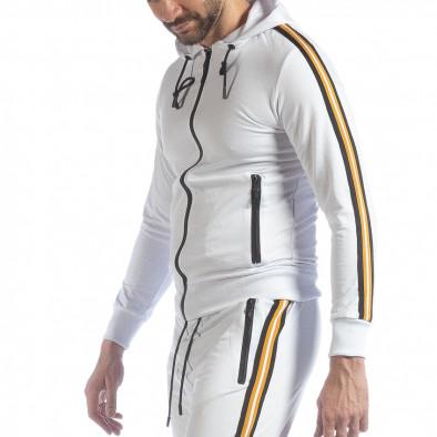 5 striped мъжки суичър в бяло it040219-103 2