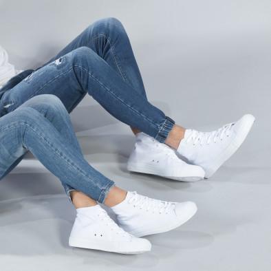 Високи бели кецове за двойки с класически дизайн cs-white-B341-B339 2
