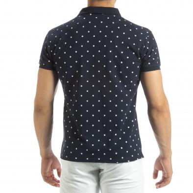 Мъжки син polo shirt Clover мотив it120619-34 3
