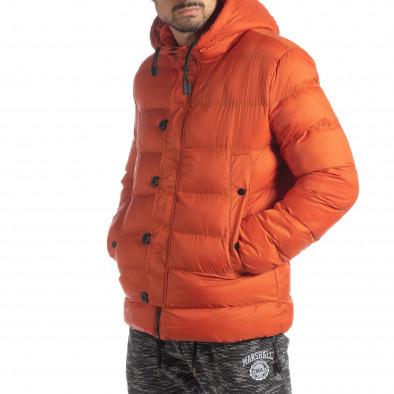 Мъжка пухенка в оранжево it051218-69 4