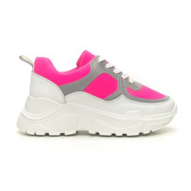 Дамски Chunky маратонки неоново розово  it050619-59 2