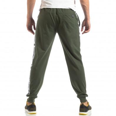 Зелено мъжко долнище с лого кантове it210319-48 4