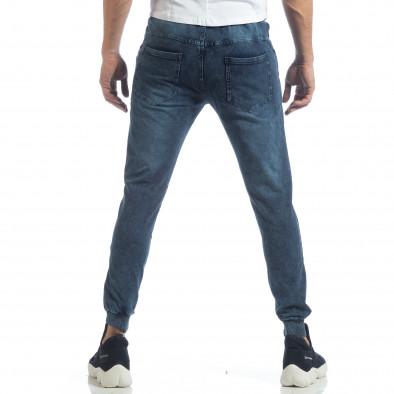 Мъжко долнище Denim Jogger в синьо it040219-50 3