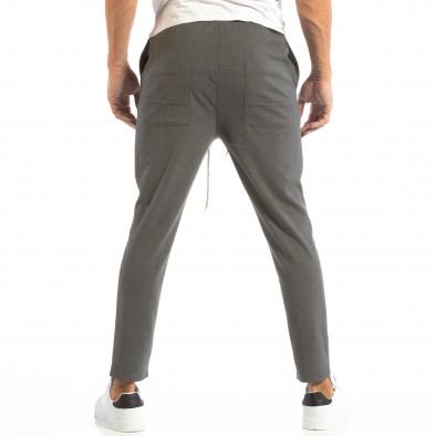 Лек мъжки панталон тип Jogger в тъмно сиво it240818-66 3