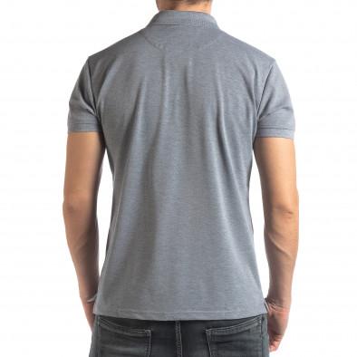 Сива тениска с яка Marshall Militare it210319-87 4