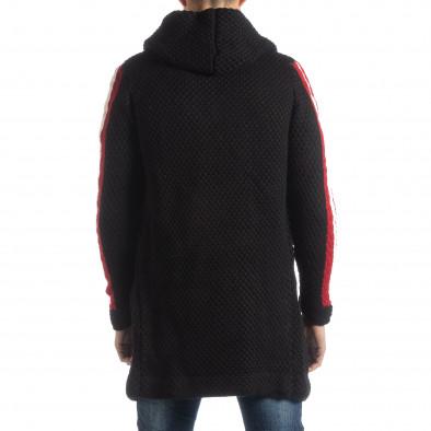 Черна плетена мъжка жилетка с кантове it051218-62 4