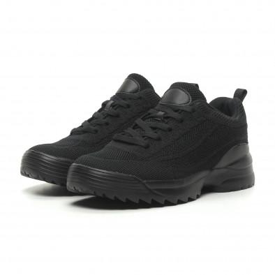 Мъжки маратонки All black с Chunky подметка it230519-12 3