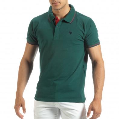 Мъжка тениска polo shirt в зелено it120619-28 2